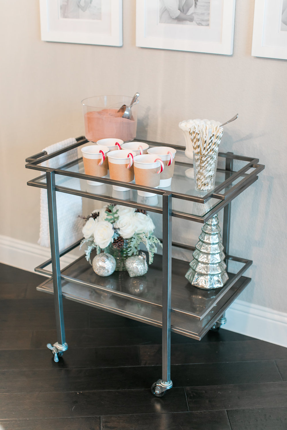 Holiday Bar Cart Christmas