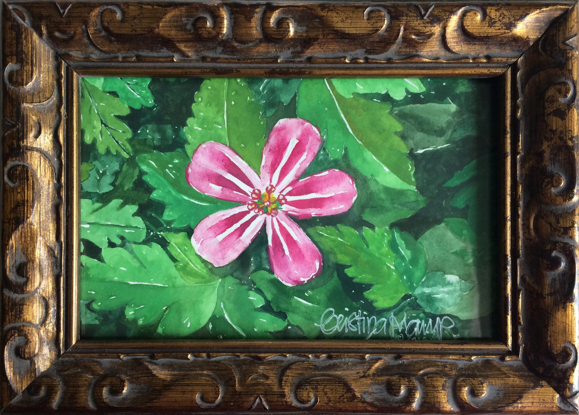 pink-flower-gouache
