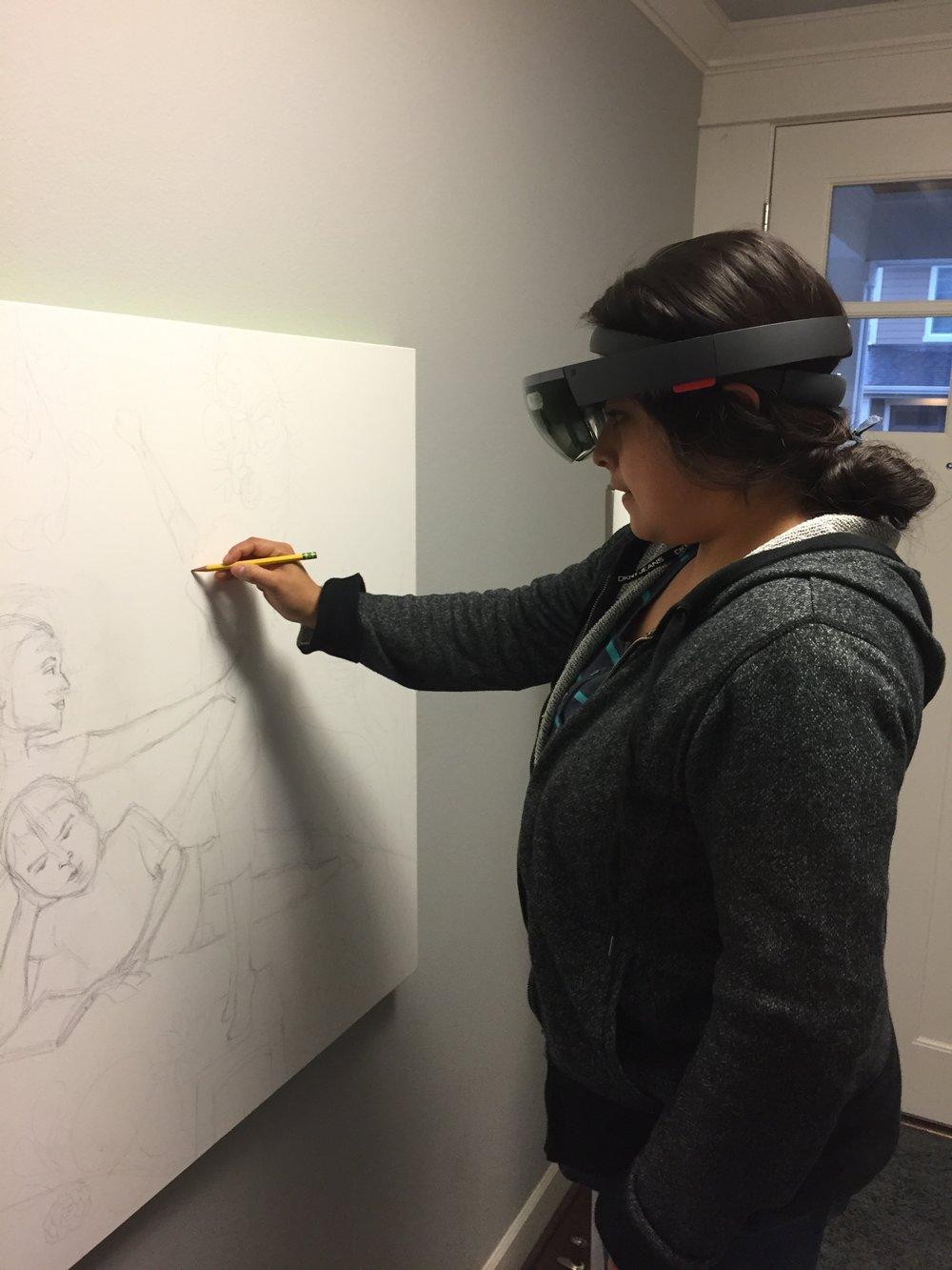 Cristina & the HoloLens