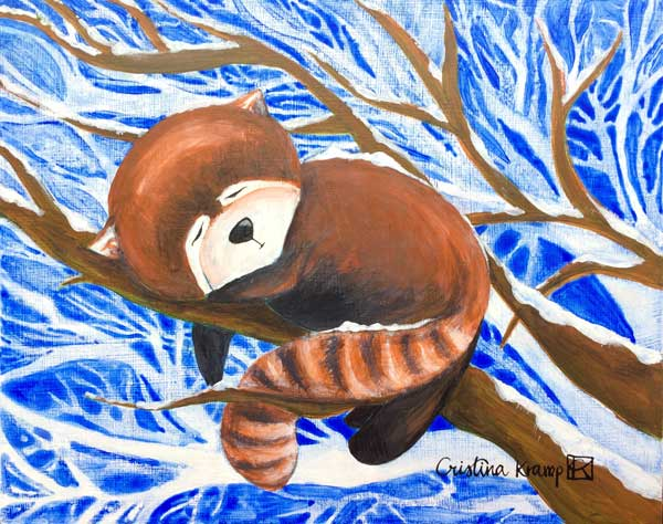 Did you know red pandas don't hibernate? They need to keep eating to stay healthy.
