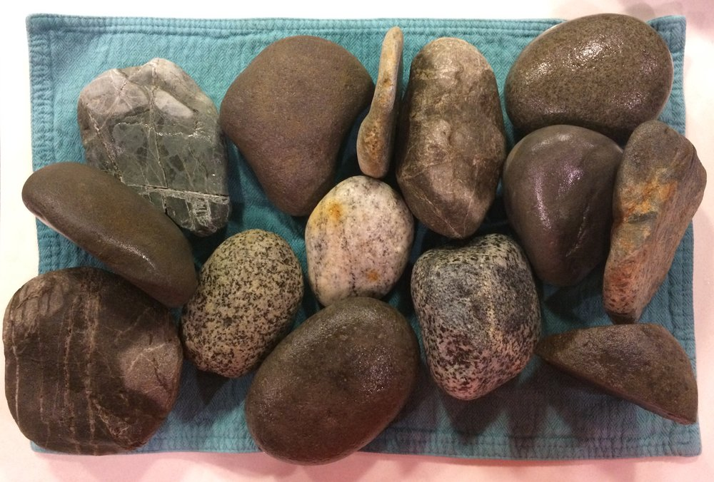 hand-washed rocks