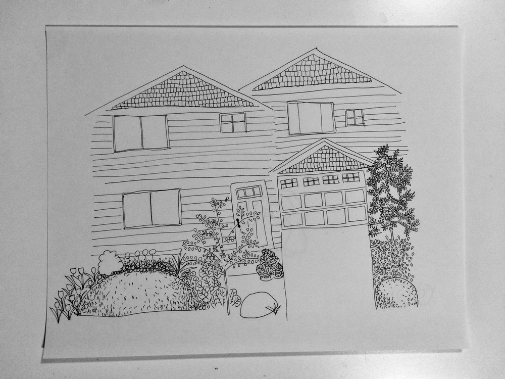 line drawing done