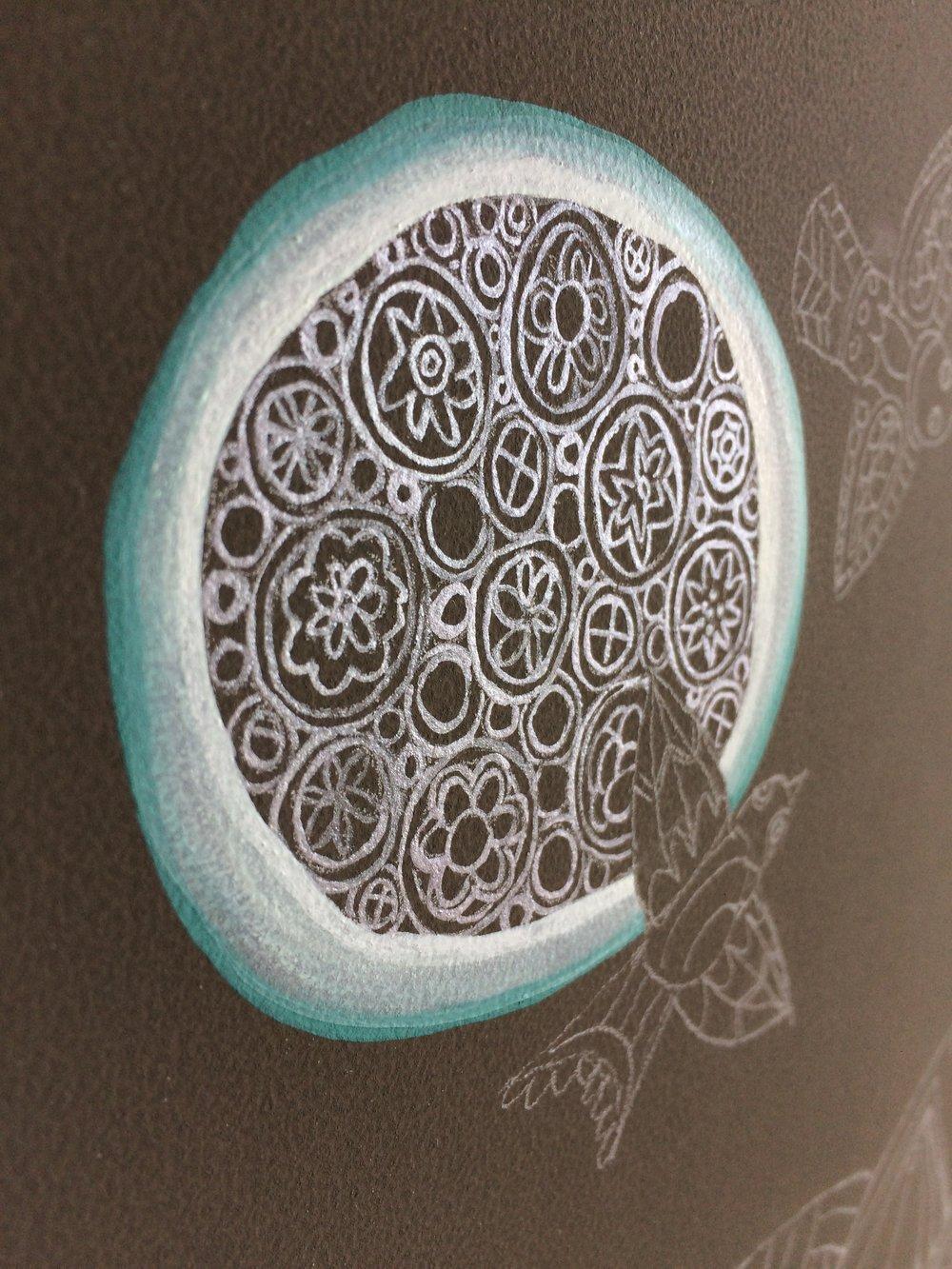 silver gouache pattern