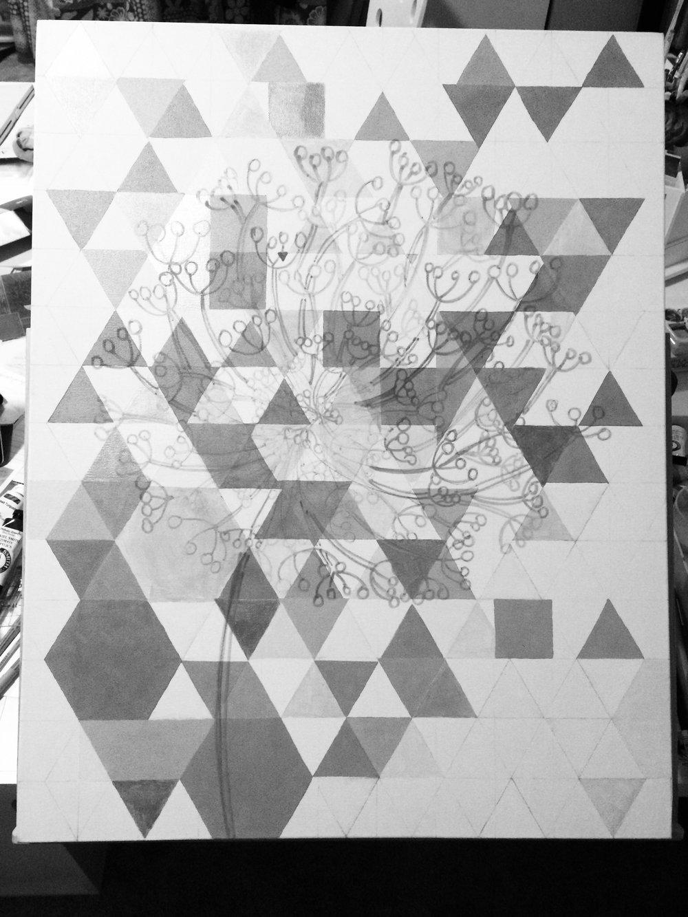 dandelion sketched