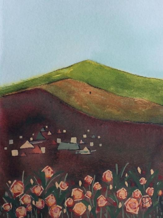 4.5x6in watercolor & gouache on paper