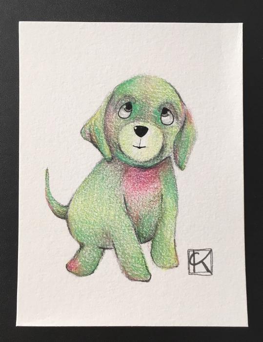 4.5x6in color pencil on watercolor paper