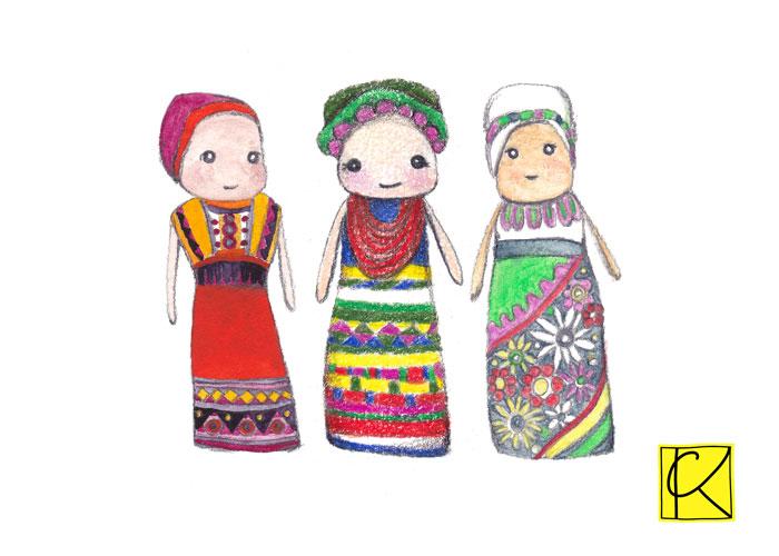 watercolor, color pencils, watercolor pencils respectively
