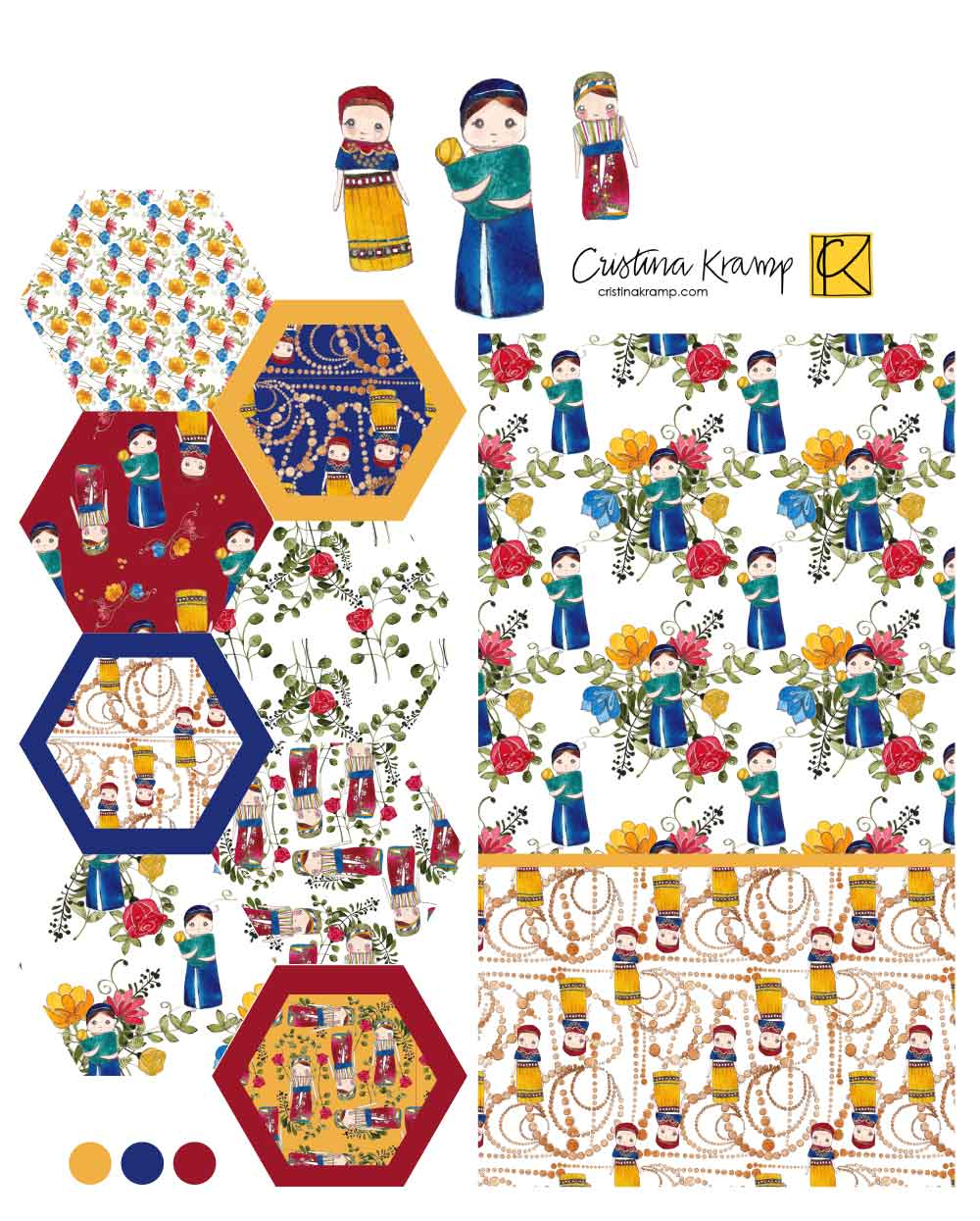 a compilation of the Ecuador collection patterns