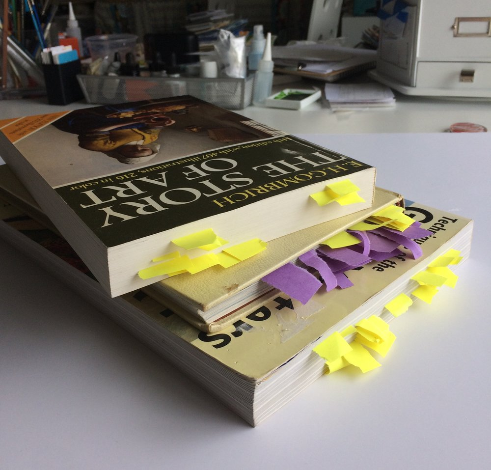 the books and many tags