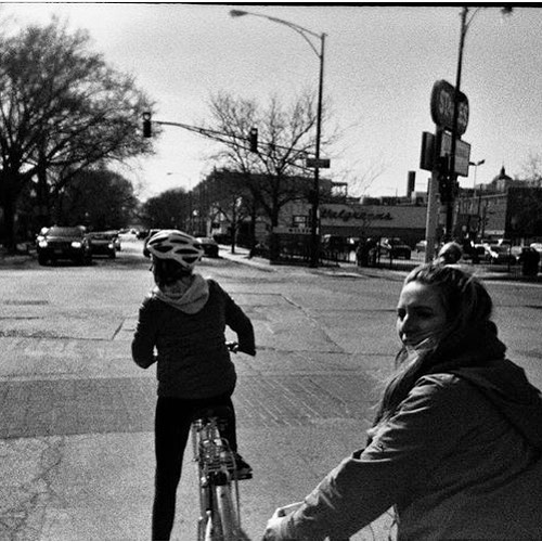 My talented friend @beccaferrer35mm who shoots film always manages to capture the beauty in unnoticed moments. 😍 🚲