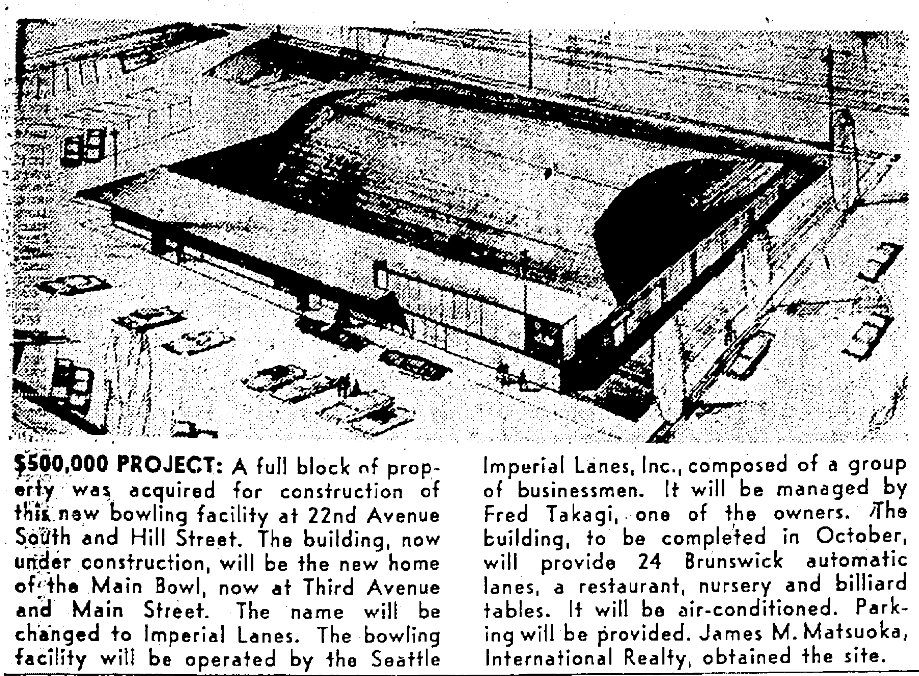 Seattle's Imperial Lanes News Clipping. This site will be the new home of Lake Washington Girls Middle School and Giddens School.