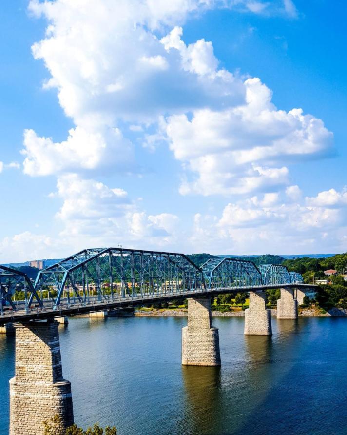 Walnut St. Walking Bridge, Chattanooga, photo by John Frala