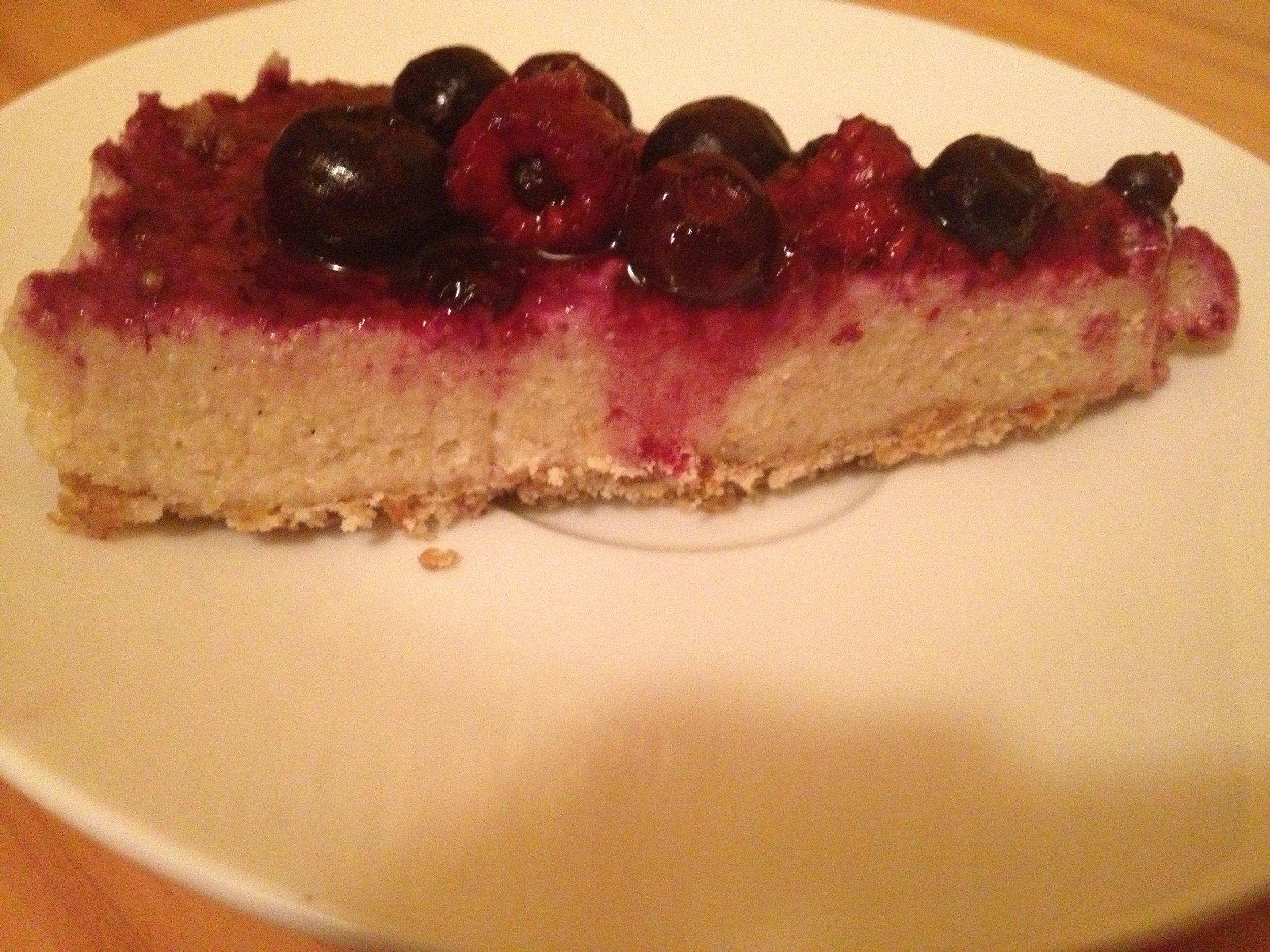 berry lemon cheesecake