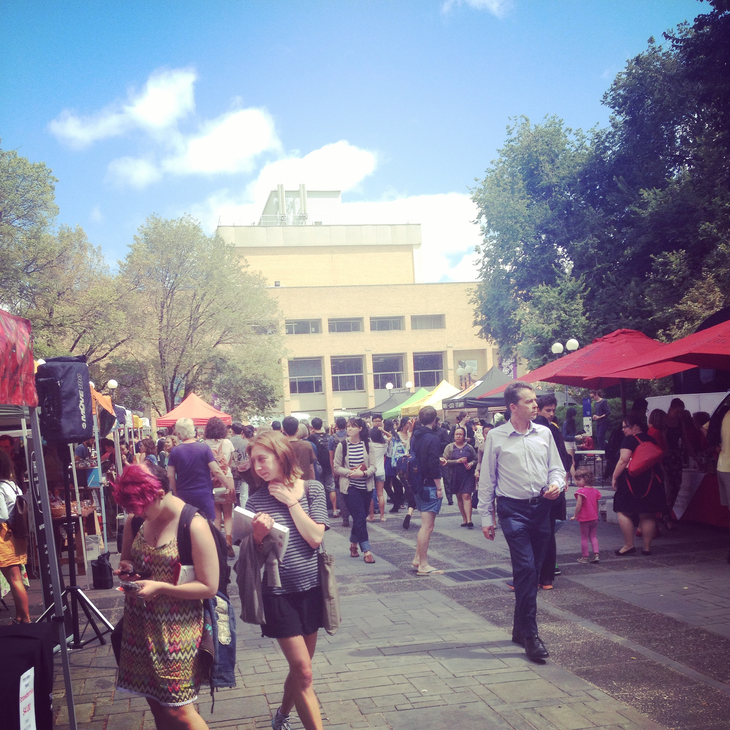 One sunny day at the farmer's markets (Melbourne Uni)