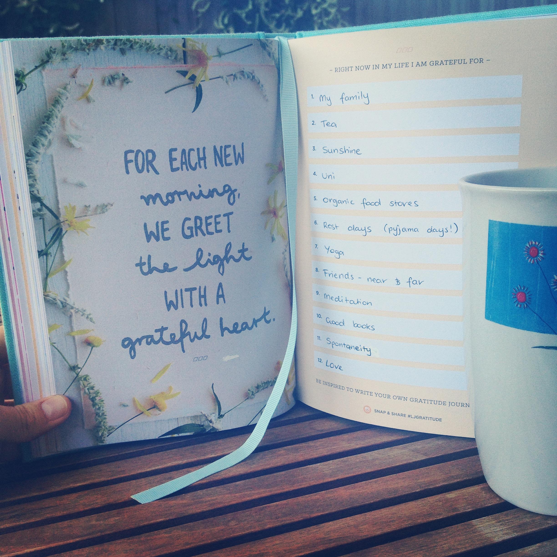 Gratitude journalling is a great SLS practice