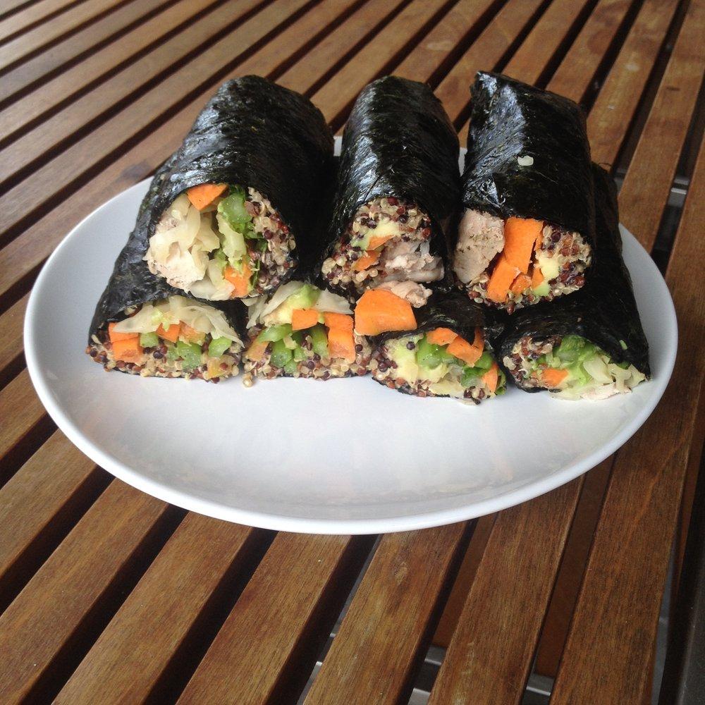Quinoa Sushi Rolls - GF, DF, SF, V/Vg option!