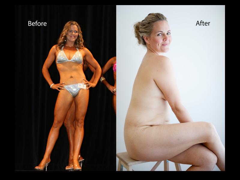 Taryn's before and after photo, which she posted with the caption 'Be loyal to your body, love your body. It's the only one you've got.'