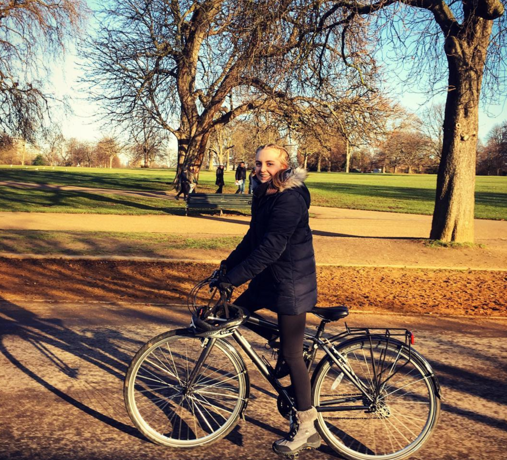 Riding through Hyde Park, London