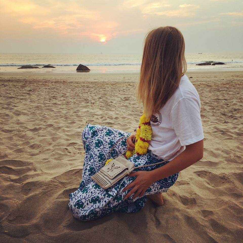 Peta at her yoga teacher training in Goa, India