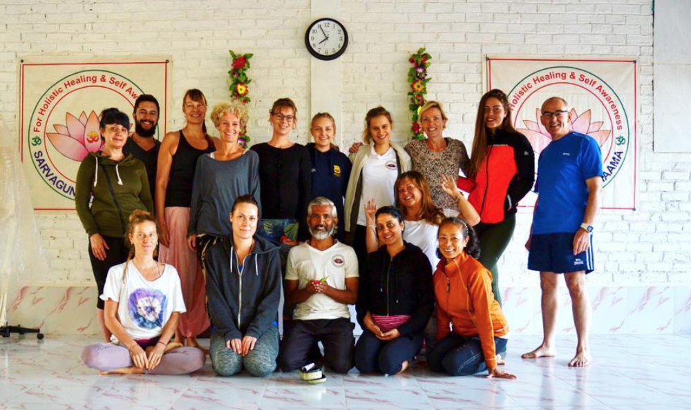 The group after our Hatha yoga practical exam