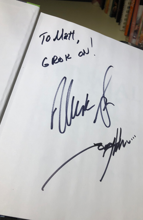 The Primal Kitchen Cookbook signed by Mark Sisson and Tony Horton.