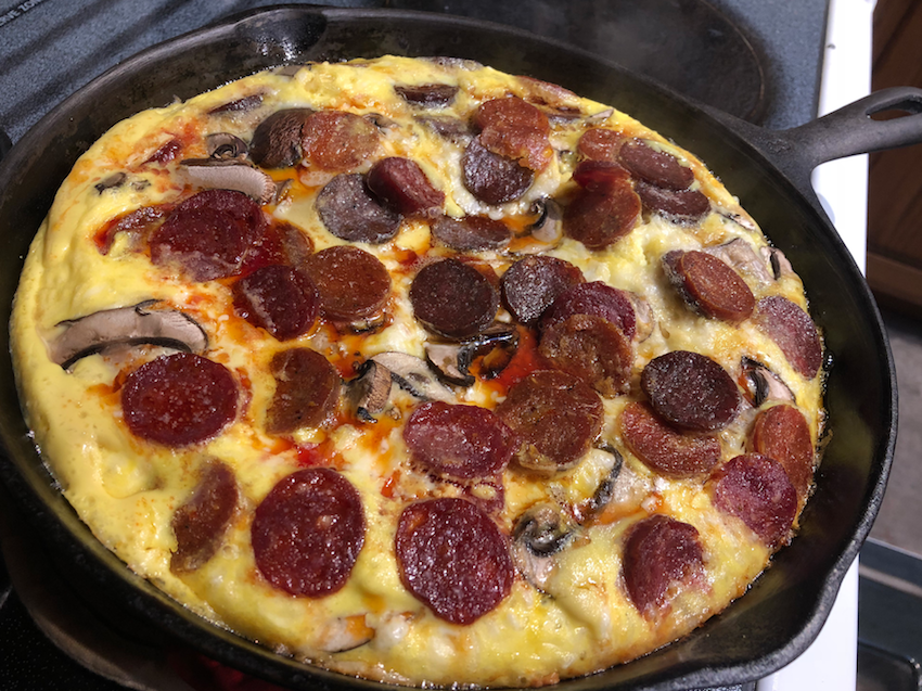 Pepperoni Breakfast Skillet