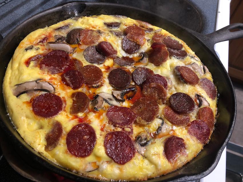 Pepperoni Breakfast Skillet
