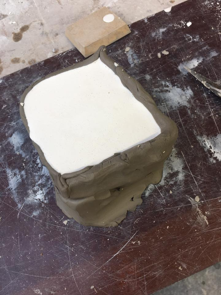 Waiting on the plaster for the second half of my mould to set