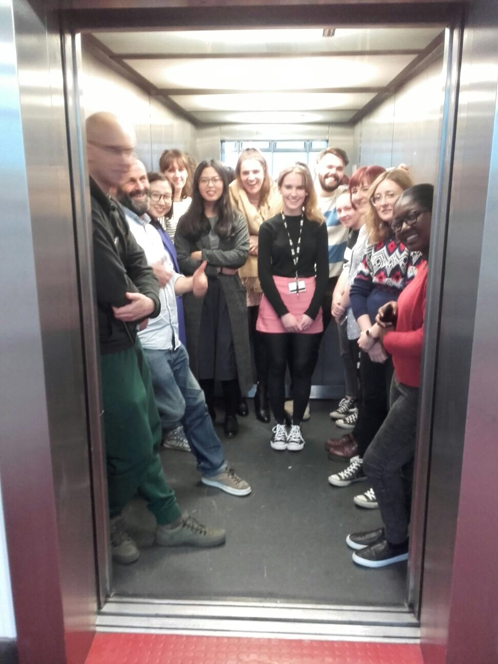 How many product designers can fit in an elevator?