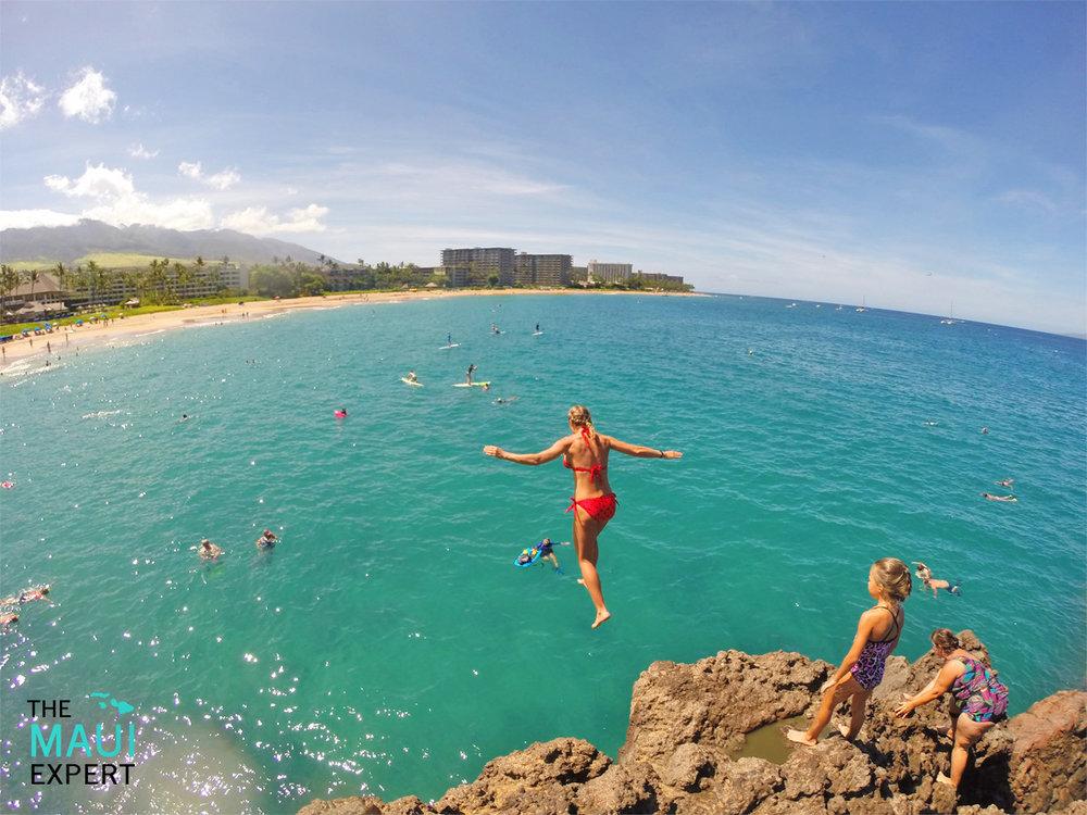 Kaanapali Beach Black Rock Cliff Jump Puu Kekaa Maui
