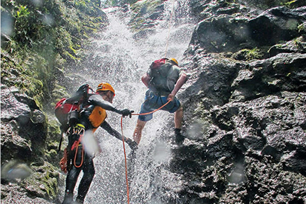 Rappel Maui   Dave Black has my life in his hands, and he's promised he won't let me fall. I press my feet against the slippery cliff as cool water splashes my face before roaring towards the pool below…  read more