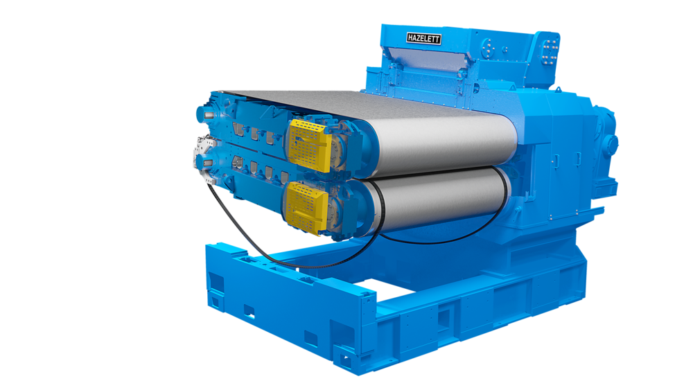 Hazelett twin-belt caster for copper anode - core machine