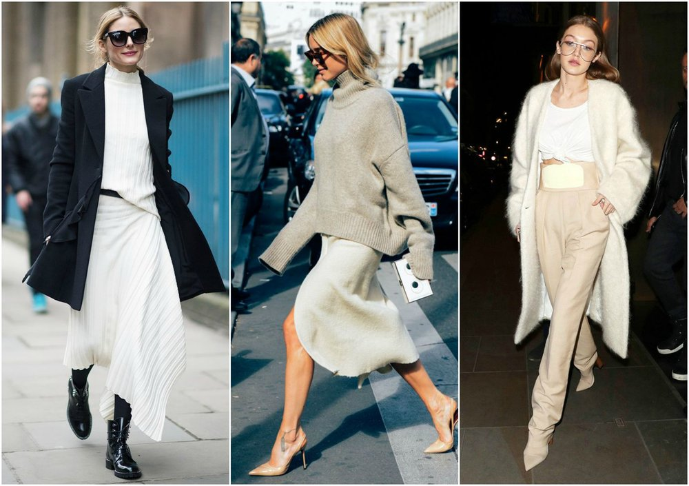 (left to right: Olivia Palermo, Pernille Teisbaek, Gigi Hadid)
