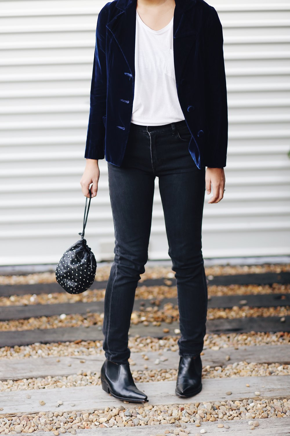 Sammy and sid vintage Blue Velvet Blazer