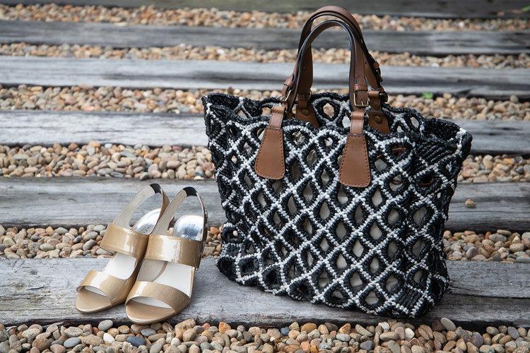 arni Handmade Leather Handle Tote ... 9b7f5a298901a