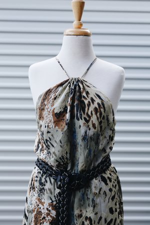 5f791f7b7ba Vintage silk animal print dress ...