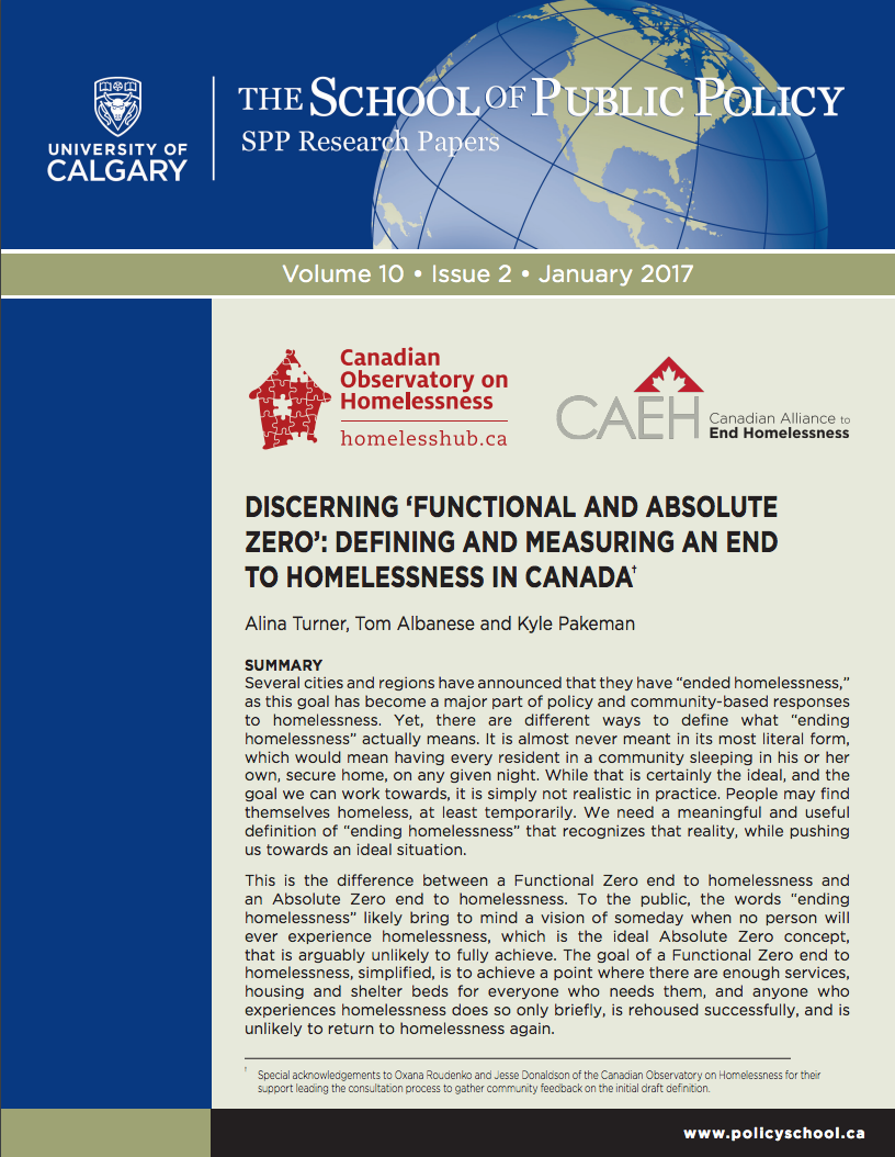 "Functional Zero - Several cities and regions have announced that they have ""ended homelessness,"" as this goal has become a major part of policy and community-based responses to homelessness. Yet, there are different ways to define what ""ending homelessness"" actually means. It is almost never meant in its most literal form, which would mean having every resident in a community sleeping in his or her own, secure home, on any given night.Download Report"