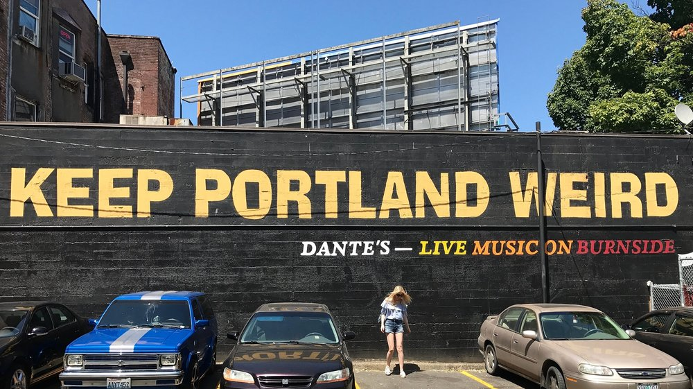 The iconic sign in Downtown Portland. My man said if you don't take a picture in front of it, you weren't really there. Fortunately, a car had just left and it was just enough room for me to get the perfect picture standing below the sign.