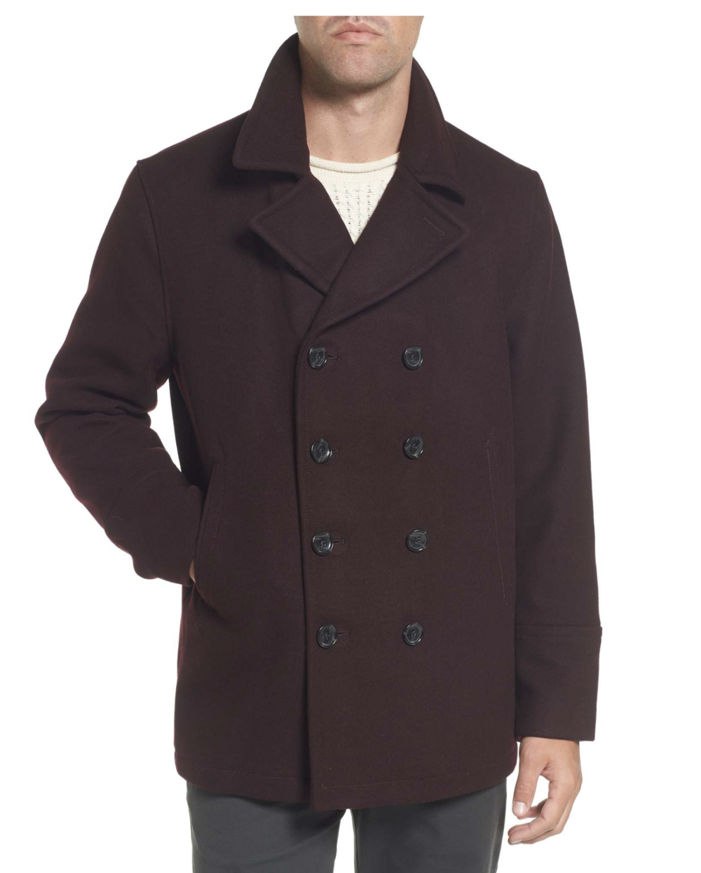 MICHAEL KORS - Wool Blend Double Breasted Peacoat