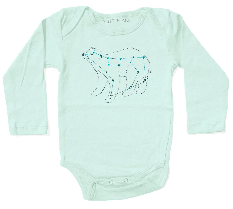 Baby Shower Gift Baby Bodysuit Ursa Major Bear Constellation