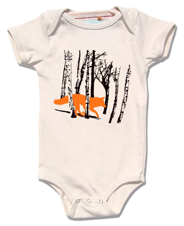 a91a7fc8f Fox / Wolf Onesie, Organic — Little Lark
