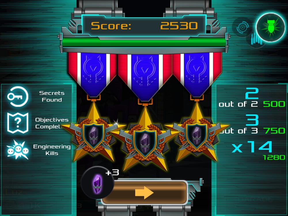 Original Level Complete Screen