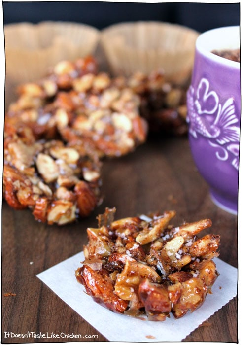 Salted Caramel Maple Nut Clusters   From:  It Doesn't Taste Like Chicken
