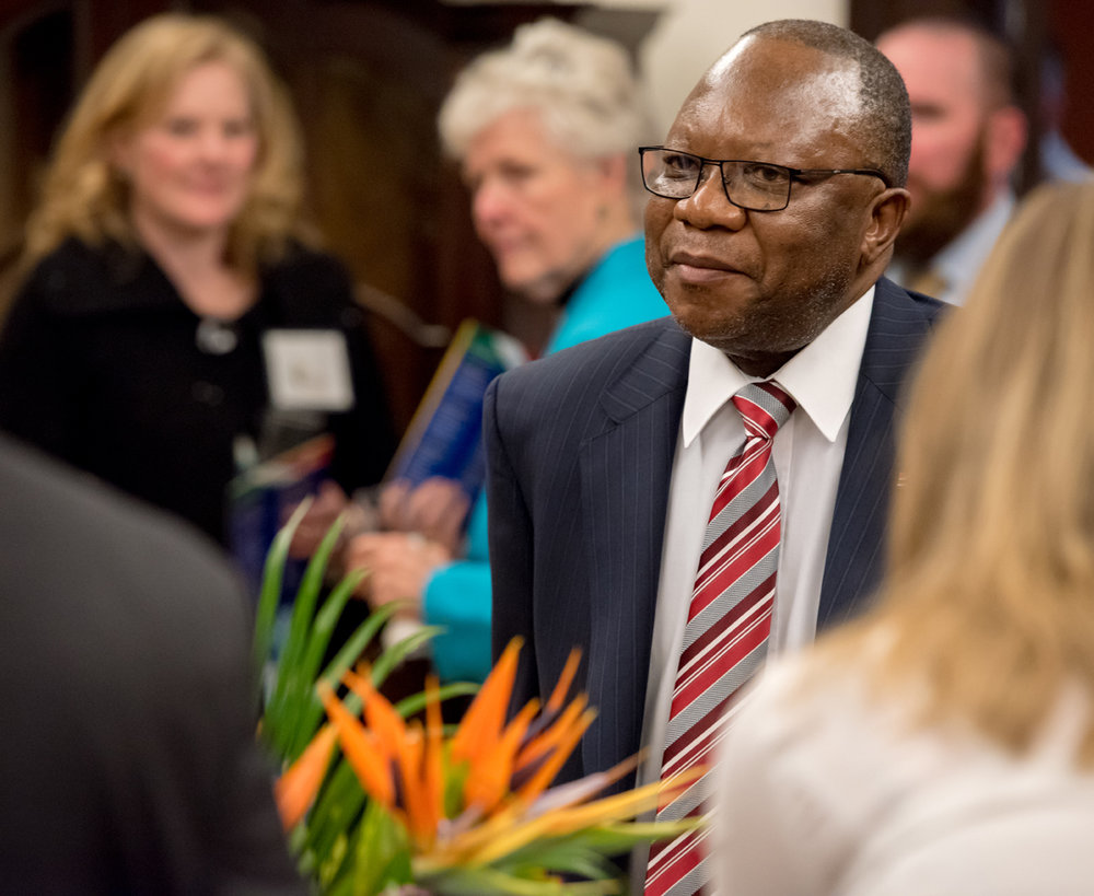 Thanks to H.E. Ambassador Mninwa Johannes Mahlangu for his participation as our honorary patron, and offering remarks during our presentation.