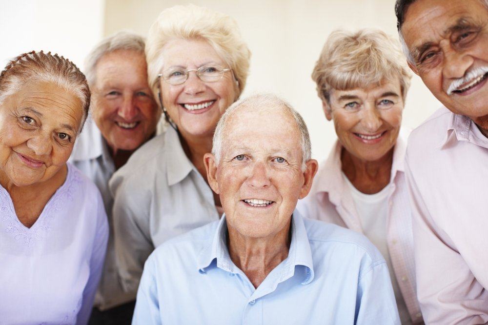 Healthly Seniors living with smiles all day