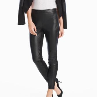 WHBM Leather Leggings