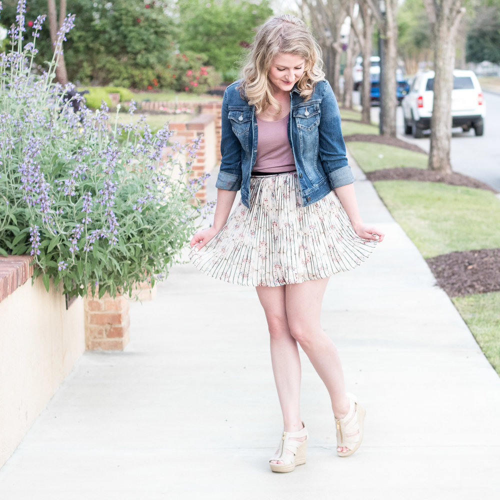 Short Skirt Denim Jacket | Ademurelife Fashion Blog