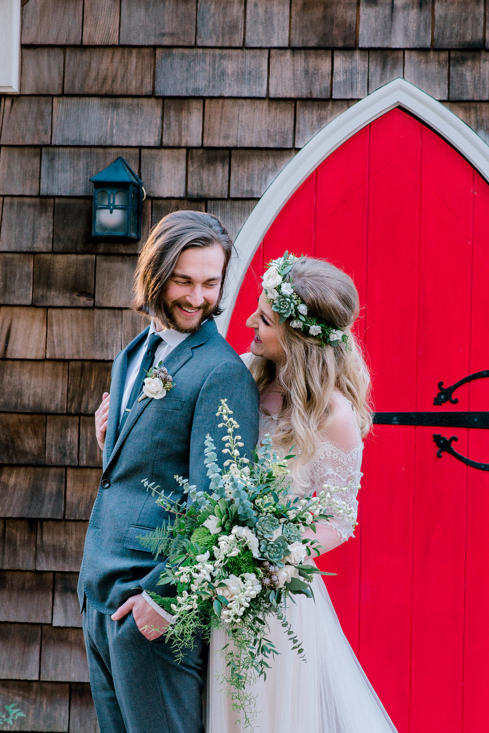 Bride and Groom Red Door | Ademurelife Fashion Blog
