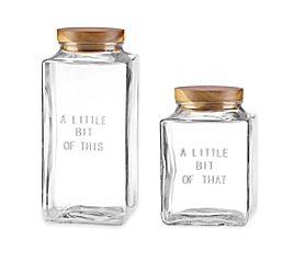 Glass Kate Spade Kitchen Canisters | Demure Fashion Blog