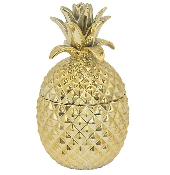 Gold Pineapple Canister | Demure Fashion Blog